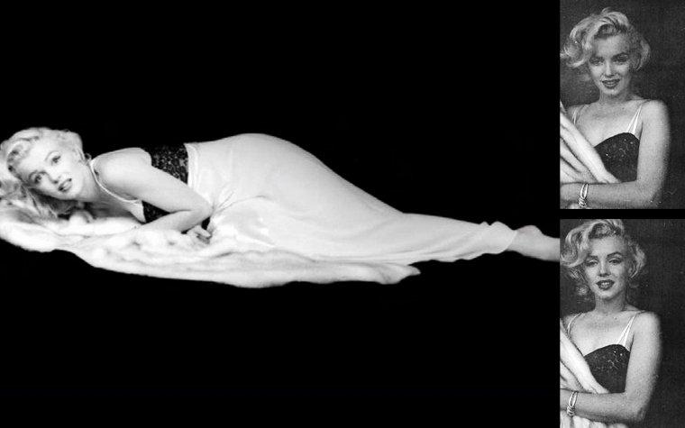 """RENCONTRE / Septembre 1949 : grâce à son agent Johnny HYDE, Marilyn franchit le seuil de la somptueuse résidence de Rupert ALLAN surplombant le canyon de Beverly Hills. Rupert ALLAN, rédacteur en chef du magazine """"Look"""", avait réuni ce soir là, une équipe de photographes new-yorkais ainsi qu'un bataillon de starlettes, en vue d'un essai photo.  C'est ce soir là que Marilyn rencontra Milton GREENE, âgé de 27 ans, qui travaillait pour le magazine """"Life"""".  Il fit impression sur Marilyn ; malgré sa timidité, son enthousiasme, la flamme avec laquelle il parlait de son métier, ses idées originales subjuguèrent Marilyn. Il comparait la photo à une « peinture à la caméra », une célébration de la beauté féminine. A cette période, il logea au """"Château Marmont"""", un hôtel sur Sunset Boulevard.  GREENE repartira pour New York le 14 septembre, sans avoir fait de photos de Marilyn.  En 1952,  Amy FRANCO (future Amy GREENE) obtint un rendez-vous avec Milton GREENE, afin de lui présenter son book. Mais à ce rendez-vous, Milton fut en retard et Amy repartit sans l'avoir vu. Quelques mois plus tard, son agence lui fixa un nouveau rendez-vous avec Milton.  Ils se rencontrèrent avant que Milton ne parte pour Paris où il couvrait les collections de couture pour le magazine """"Life"""" : avec David HAFT (avec qui Amy sortait de temps en temps), Milton organisa une soirée à son studio. Suite au rendez-vous raté, Amy lui lança « Bonsoir Milton GREENE, au revoir Milton GREENE » / Eté 1952 : Milton était à Paris. Il sortait à cette époque avec le mannequin Nelly NYAD. De Paris, ils allèrent faire un séjour en Espagne / Automne 1952 : au cours d'une nouvelle sortie prévue avec David HAFT, Amy se rendit chez David. Celui-ci lui annonça qu'il a convié Milton GREENE pour la soirée, celui-ci venant de se séparer de Nelly NYAD, son ancienne compagne.  Milton arriva et tandis que David se préparait, discuta avec Amy. C'est là qu'ils tombèrent amoureux.  Amy le rappela mais Milton ne lui répondit pas. Ell"""