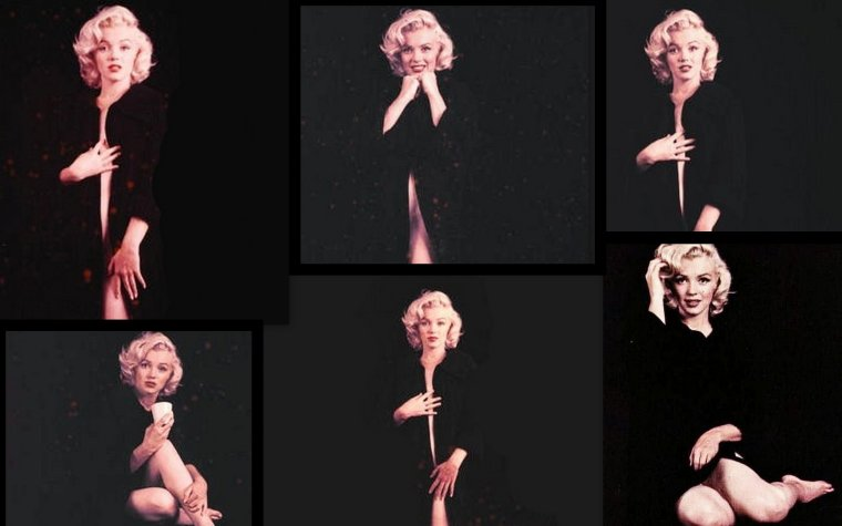 "1953, Marilyn vue par Milton GREENE, session ""nude""."