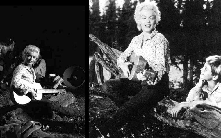 """""""River of no return"""" (La rivière sans retour) d'Otto PREMINGER / Paroles et vidéo de la chanson """"Down in the meadow"""", et Marilyn posant lors du tournage du film : ANALYSE et CRITIQUE (suite et fin) / Après ce western de commande, PREMINGER vendra sa villa hollywoodienne pour racheter ses dernières années de contrat Fox à ZANUCK, et s'exilera à New York, berceau de ses premiers succès américains dans le théâtre. Il livrera alors une série de chefs-d'½uvre amorcée dès le film suivant, """"Carmen Jones"""". Mais il ne reviendra malheureusement plus jamais au western. C'est fort dommage, car ne seraient-ce les inévitables transparences dues au sujet qui viennent parfois entacher la saisissante beauté de cet exaltant et très moral récit d'aventures, """"River of no return"""" aurait sa place parmi les plus beaux fleurons du genre. Il s'en faut d'un rien."""