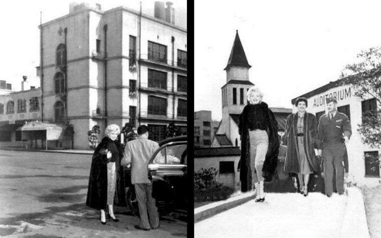 """Avant de s'envoler pour la Corée où elle doit se produire sur scène, Marilyn répéte pendant une semaine avec les musiciens de l'orchestre """"Anything Goes"""", installé à Osaka, au Japon. Le chef d'orchestre, Don OBERMEYER, se souvient : """"Il était facile de s'entendre avec elle. Elle était charmante. Avant les répétitions d'Osaka, elle n'avait jamais vu de micro de scène; à Hollywood, le micro se trouve sur une perche au-dessus de la tête des acteurs. La première fois, elle s'en est approchée plutôt craintivement, puis elle s'y est habituée. Elle faisait exactement tout ce qu'on lui disait. Elle était gentille et coopérative. Je crois qu'il n'y a absolument rien de méchant en elle."""" Elle répéta longuement, ne cessant de demander à l'orchestre comment elle pouvait s'améliorer. Après les répétitions, ils s'envolèrent pour Busan, en Corée du Sud. OBERMEYER se souvient : """"Elle était à l'avant de l'avion, avec les colonels et les commandants... puis elle s'excusa, revint de notre côté et s'assit près de chacun des soldats. Elle leur demanda d'où ils venaient, où ils étaient allés à l'école, ce qu'ils voulaient faire dans la vie, comment étaient leur famille, où ils vivaient... Elle voulait tout savoir sur eux. Elle préférait être avec les 'boys' qu'avec les 'huiles'."""