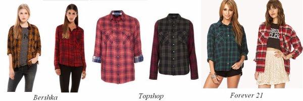Les chemises à carreaux