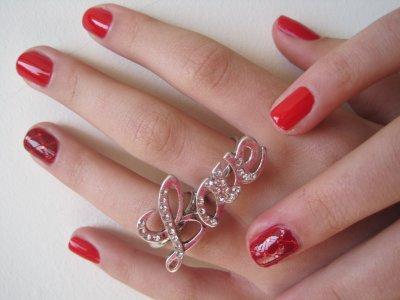 •Nail• Nail art accent nail matelassé