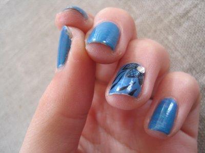 •Nail art• Nail art fleur-résille