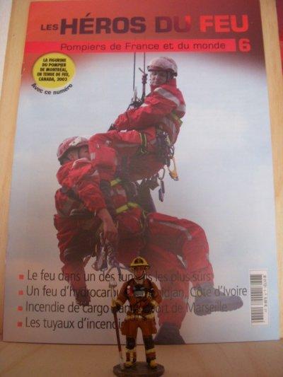les heros du feu n6 sa figurine + son fasicule