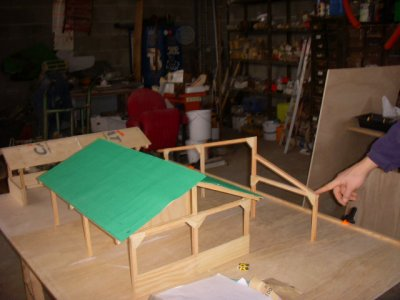 3e jour de construction pour la maquette