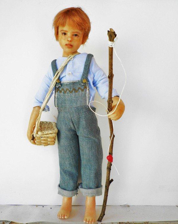 Les poupées de Sylvie Font, de merveilleuses créations!  Tom Sawyer!