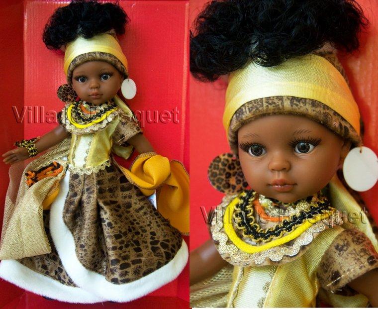 poupée africaine de Paola Reine