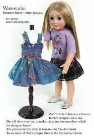Pour commencer , un petit cadeau ! Télécharger gratuitement un patron pour une robe à bretelles pour votre poupée.