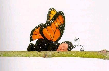 En mode papillon.