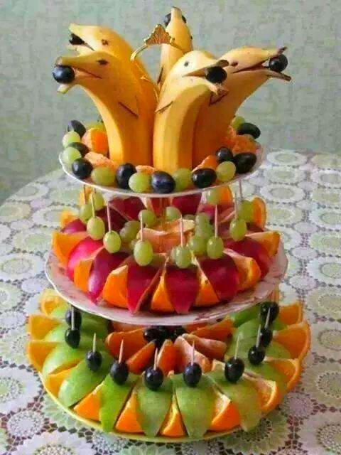 Idée Repas Du Dimanche.Il Fait Chaud Mangeons Des Fruits Présentés De Façon