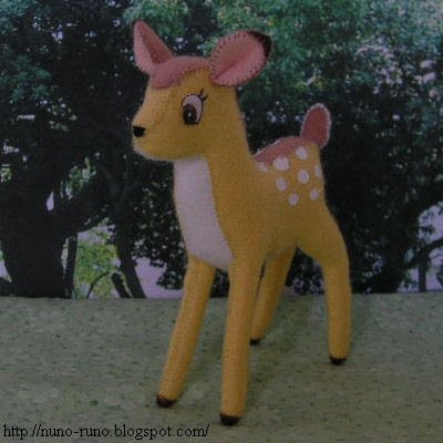Couds un mini Bambi pour Loulotte, Bleuette...