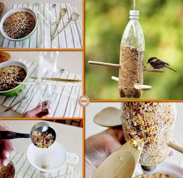 Il fait froid, penses aux petits oiseaux en réalisant cette mangeoire en mode récup.