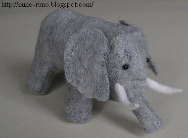 Couds un adorable éléphant  pour Loulotte, Bleuette...