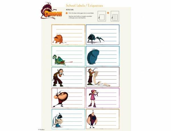 Pour les amateurs de dragons des étiquettes à imprimer pour l'école pou les paquets cadeaux.