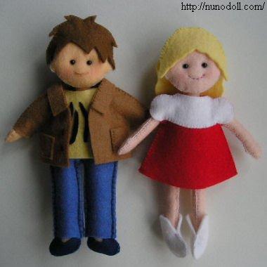 Réalises des petites poupées pour tes poupées.