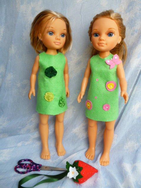 Réalises une  jolie robe pour Nancy de Famosa 2ème édition. patron facile, réalisable par un enfant.