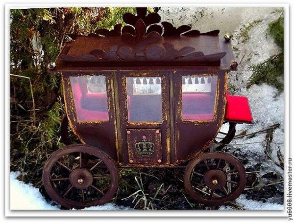 Pour les pros du bricolage ;  un carrosse royal.