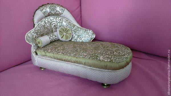 Fabriques un canapé  pour tes poupées.