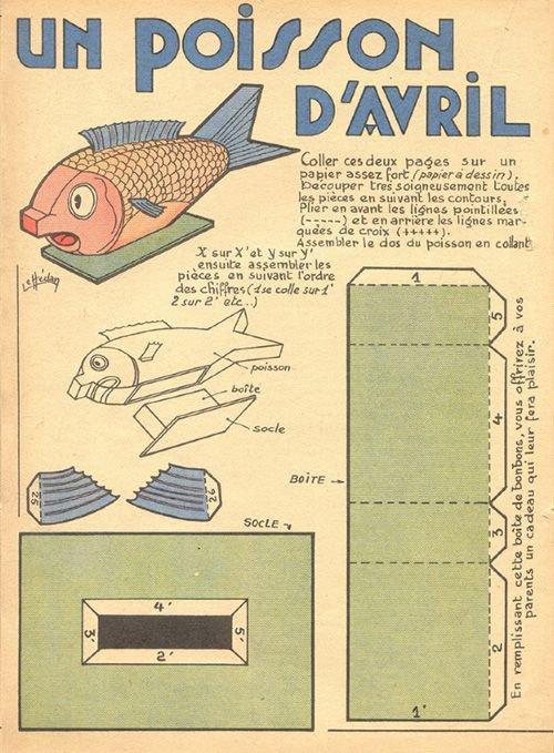 Un vrai poisson d'avril à monter.