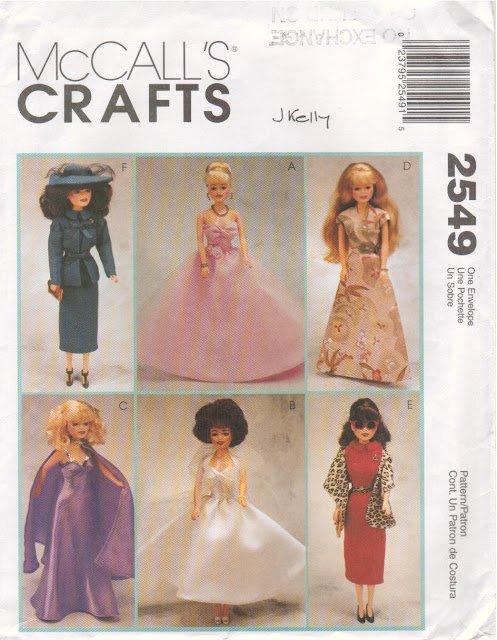 Patron MC CALL'S pour poupées mannequins.