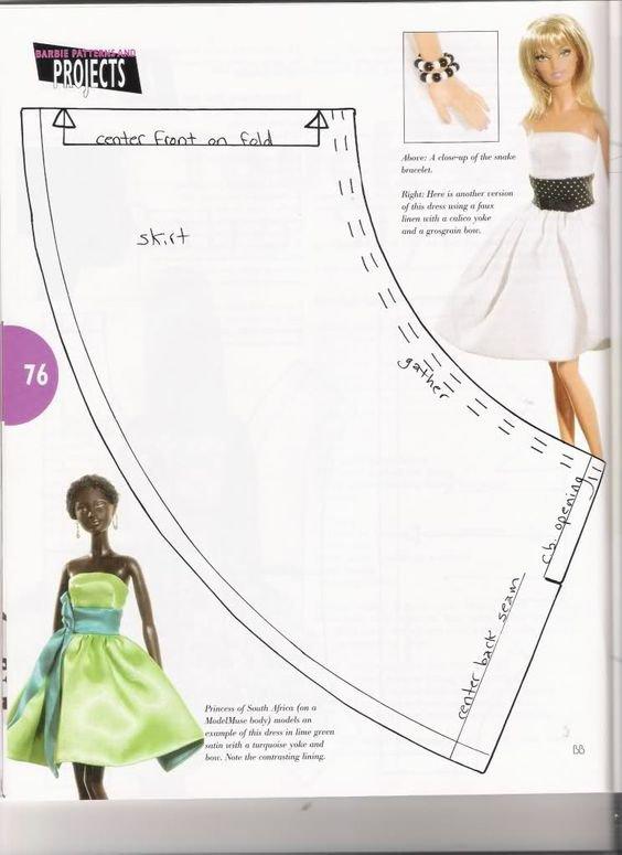 Patron facile pour réaliser une robe de poup&e mannequin.