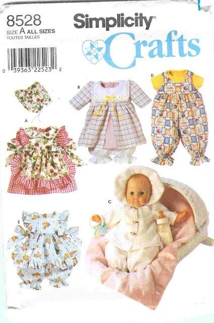 Patron pour réaliser des vêtements pour les poupées.