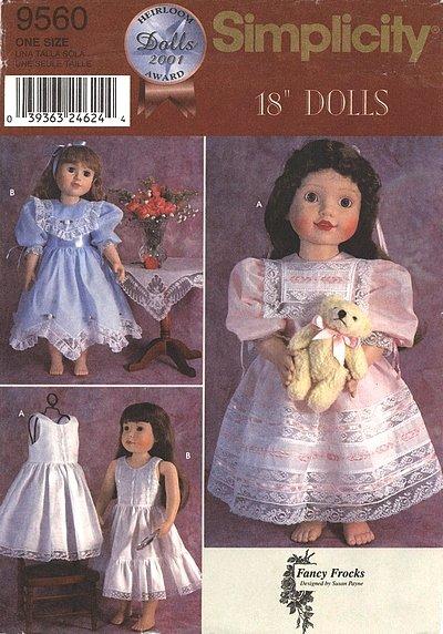 Patron simplicity, robes pour les poupées.