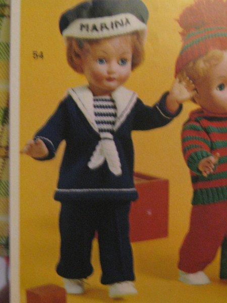 Explications pour un costume de marin pour une poupée de  45 cms.