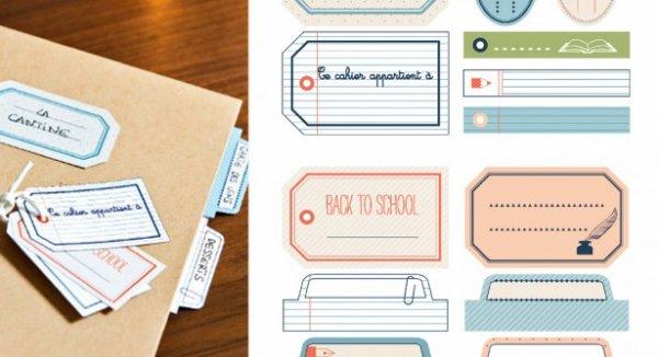 Préparons la rentrée scolaire, avec des étiquettes à imprimer.