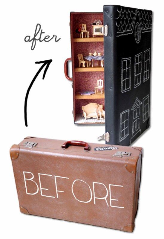 Une maison de poupées dans une valise!