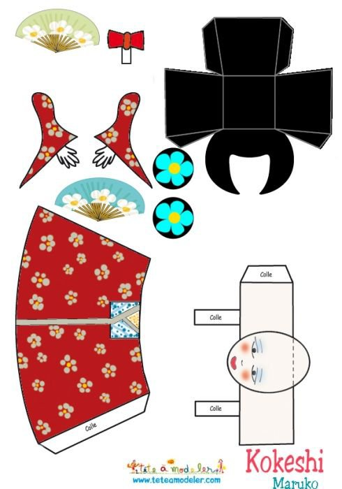 Paper doll, une Kokeshi.