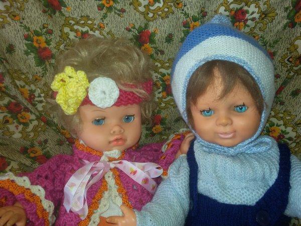 Il fait froid, les petits sont bien couverts: