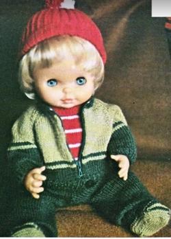 Tricotes un jogging pour ta poupée.