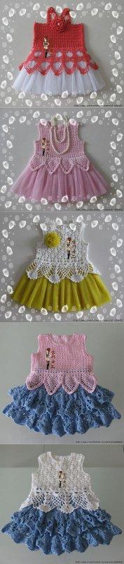 Des idées de robes au crochet.