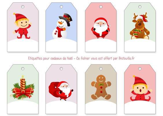 Etiquettes pour vos paquets cadeaux.