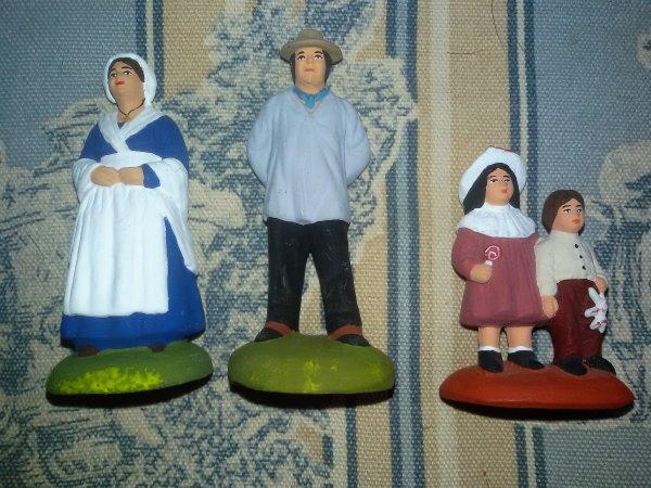 De nouveaux santons pour la crèche.