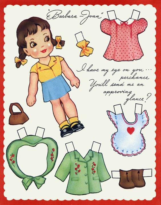 En mode paper doll.