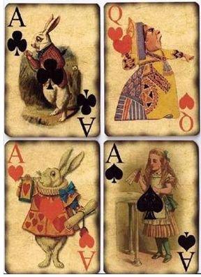 Pour vos décors, cartes, le monde d'Alice aux pays des Merveilles.