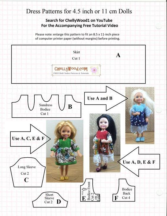 De la couture pour celles qui aiment les toutes petites poupées.