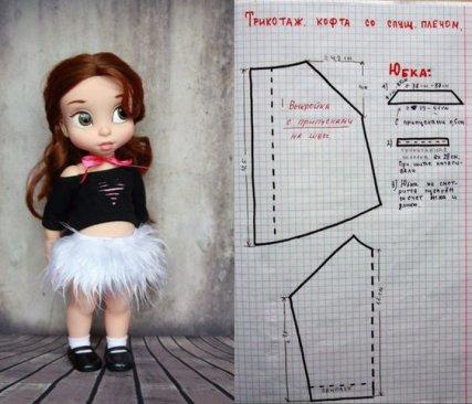 Un peu de couture pour les poupées Disney.