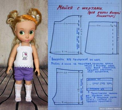 En mode couture avec un patron pour les poupées.