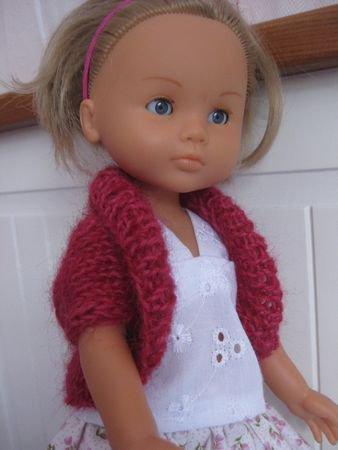 Tuto pour tricoter un boléro pour les Chéries de Corolle.