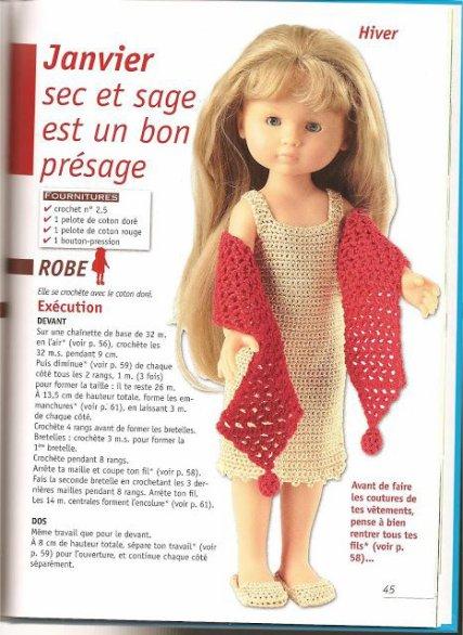 Comme les Chéries de Corolle ont pas mal de succès, voici un tuto pour leur crocheter une jolie robe.