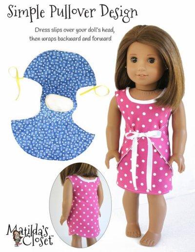 Patron facile pour coudre une robe pour les American girls.