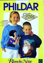 Catalogue pour tricoter pour les enfants, motifs Disney.
