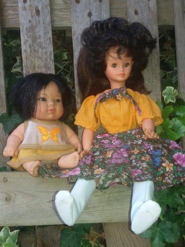 Cathie y su amiga.