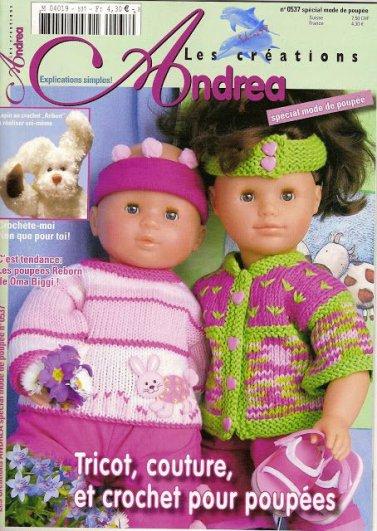 Catalogue pour tricoter pour nos poupées.
