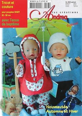 Catologue pour tricoter et coudre pour nos poupées.