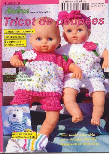 Un autre catalogue pour tricoter pour nos poupées.