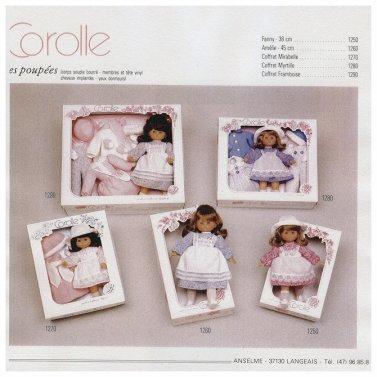 Tous les catalogues Corolle numérisés de 1982 à 2002, une mine de renseignements pour idenfier les poupées et leurs tenues.